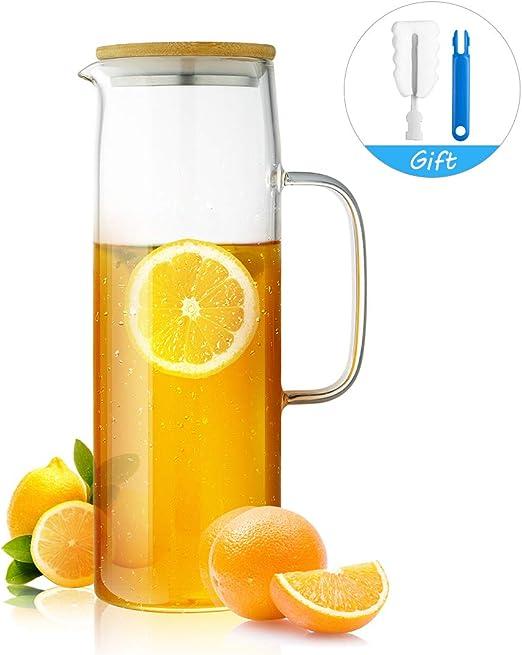 Amazon.com: ONEISALL - Jarra de cristal para café o agua ...