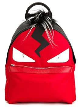 4d6697730ff Image Unavailable. Image not available for. Colour  Fendi Men s Bag Bugs  Monster Eye Red Backpack ...