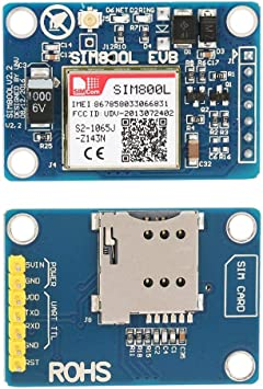 SIM800L Módulo GSM GPRS SMS con reemplazo de antena para SIM900A 5V