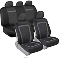 $22 » BDK All Protect Full Set Seat Covers (Front & Rear Coverage) with Fresh Two-Tone Charcoal…