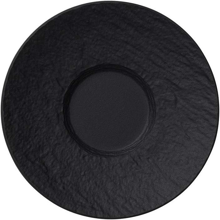 12 cm Villeroy /& Boch Manufacture Rock Desert Mokka-// Espresso-Untertasse Schwarz//Bunt Premium Porzellan