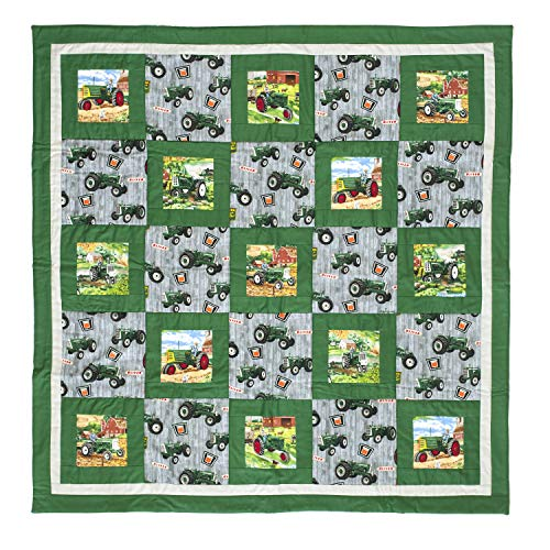 Oliver Tractors Baby Quilt or Wall Hanging