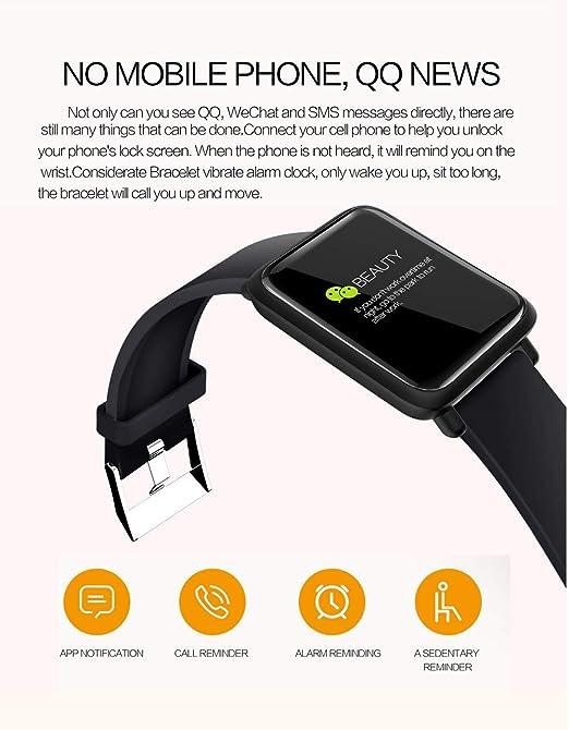 Amazon.com: Huangou M28 - Pulsera inteligente con monitor de ...