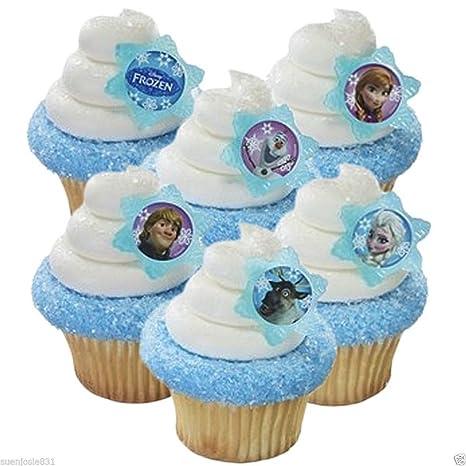 Amazon.com: Disney s Frozen Cupcake Rings: Kitchen & Dining