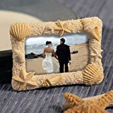 Beach Themed Wedding Place Card Frames - Sand, Stars and Shells, 24