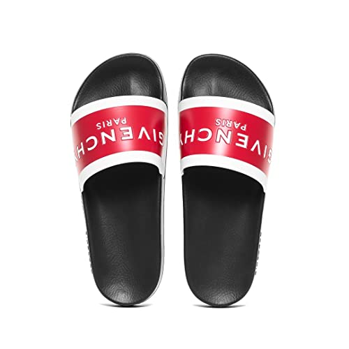 a2fdbff6f28 Givenchy Red and Black Logo Slider Sandals (6 UK)  Amazon.co.uk ...