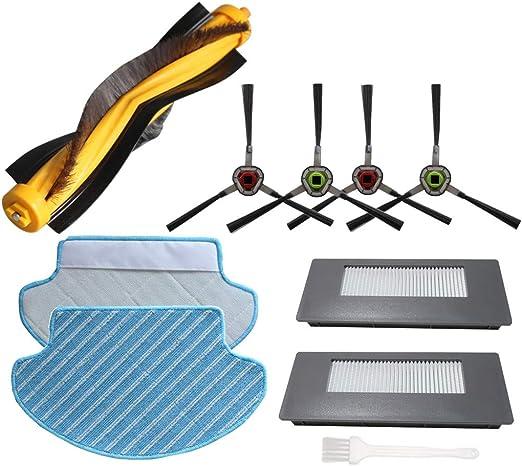 Sweet D Accesorios Compatible con Ecovacs Deebot 900 901 Robot Aspirador Repuestos & Filtros Cepillos Paños: Amazon.es: Hogar