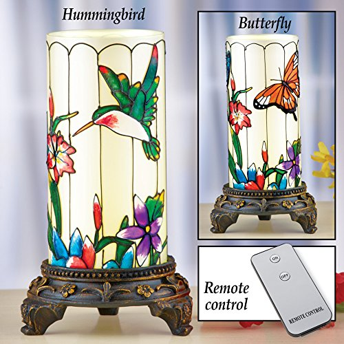 Springtime Glas Tabletop Lamp with Remote Control (Springtime Lamp)