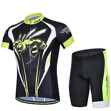 Weelly Conjunto de Ciclismo Trajes Maillot Mangas Cortas Pantalones cortos Hombre