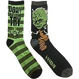 Star Wars Yoda Jedi Master 2 Pack Casual Crew Socks