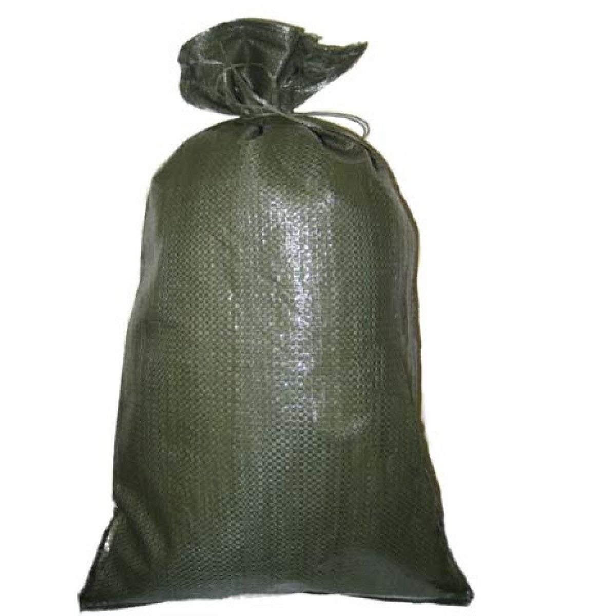 Green Sandbag Sandbags Will Hold 50 Pounds of Sand Polypropylene Olive Drab (100) by Sandbaggy