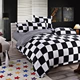 YIweNi Bedding 4 piece student hostels bedspreads, life is like a chess game, the small 3-piece set