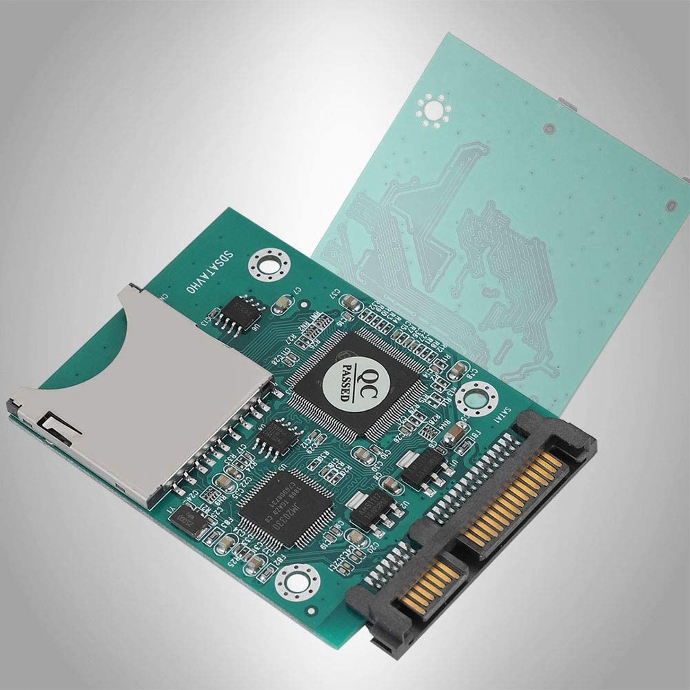 s Fast Transmission Memory Card SD//SDHC//SDXC//MMC Memory Card to 2.5in 7+15P SATA Converter Bewinner SATA Converter Adapter 22MB