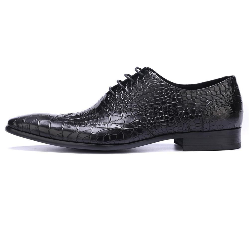 XIE Männer Männer Männer Hochzeit Schuhe Schnüren Kleid Schwarz Stein Muster Beiläufig Leder Formal Geschäft Spitz Zehe Oxford Zum Männer Braun Arbeit Größe 38-44 67e277
