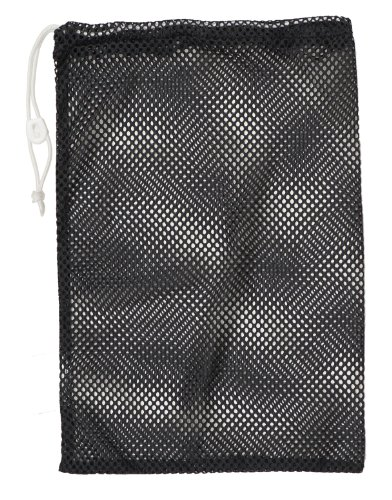 (Champion Sports Mesh Equipment Bag (Black, 12 x 18-Inch) )