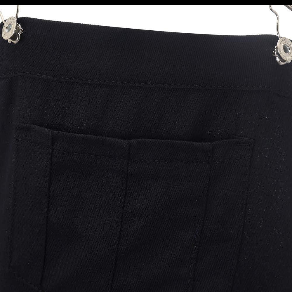 Fubotevic Women Stretch Denim Ripped Distressed Jeans Girls-Bib Bodycon Denim Overalls
