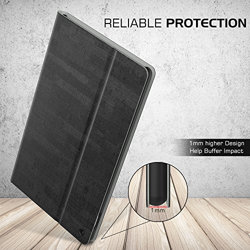 MoKo Case for All-New Fire HD 10 Tablet (7th / 9th Generation, 2017/2019 Release) - Lightweight Stand Folio Shockproof Cover Protector with Auto Wake/Sleep for Fire HD 10.1 Inch, Slate Black