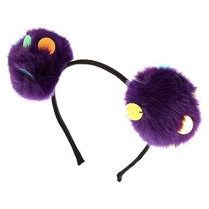 Claires - Diadema de lentejuelas con orejas de gato, color morado