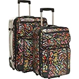 Sydney Love 2 Piece Rolling Luggage Set, Stepping Out Print ,One Size