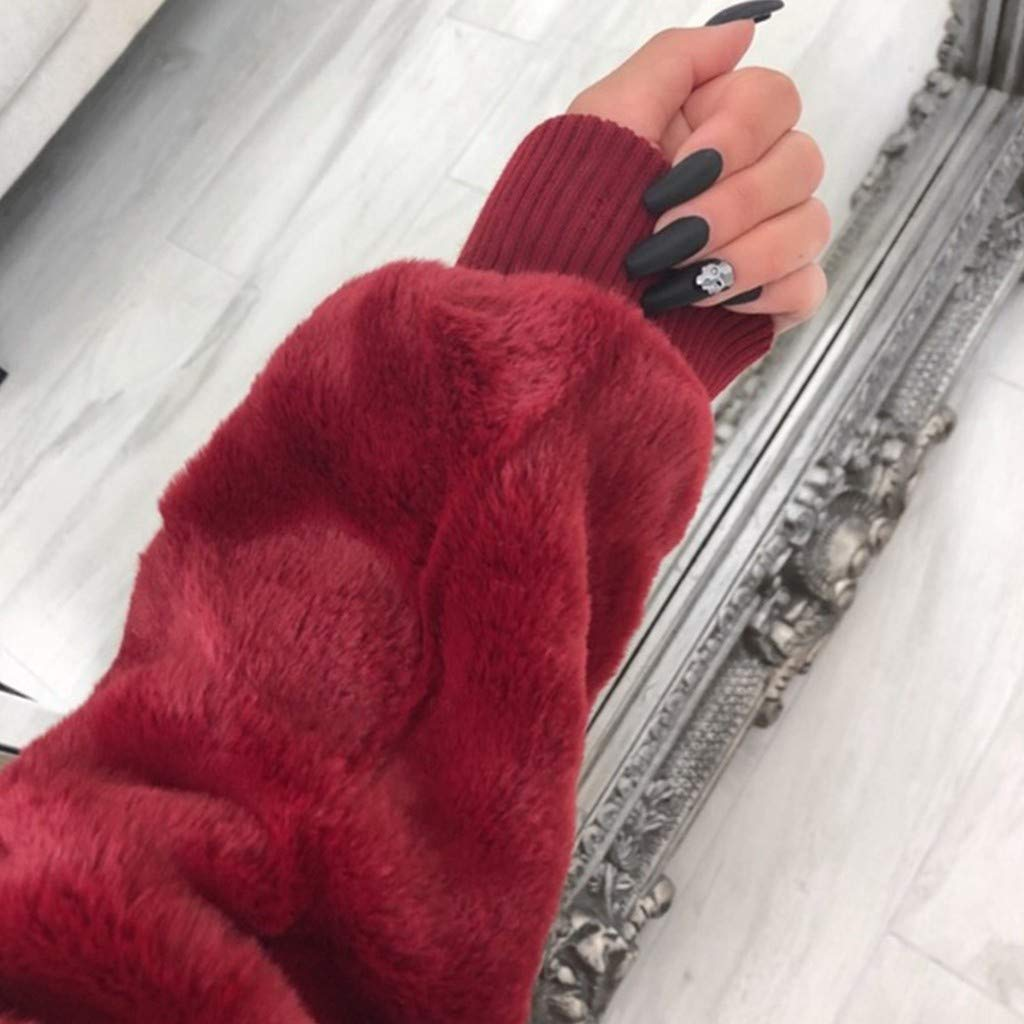 Atkobac Womens Casual Jacket Winter Warm Outwear Blouse Ladies Coat Overcoat Tops