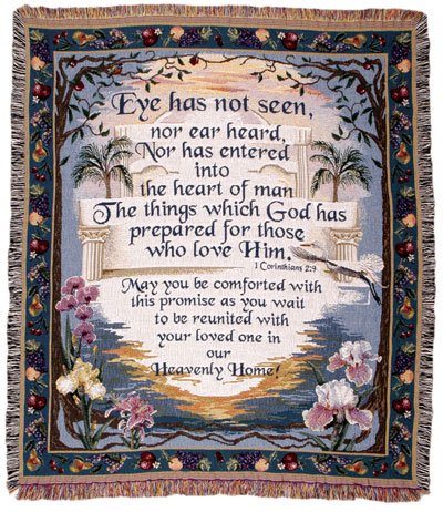 (Simply Home Heavenly Home Tapestry Throw Blanket)