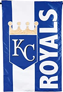 Rico Industries, Inc. Kansas City Royals Embellished Premium 2-Sided Garden Flag Applique Banner