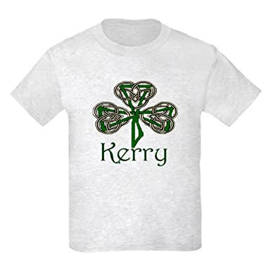 e3d53cb5 CafePress - Kerry Shamrock Kids Light T-Shirt - Kids Cotton T-Shirt Ash