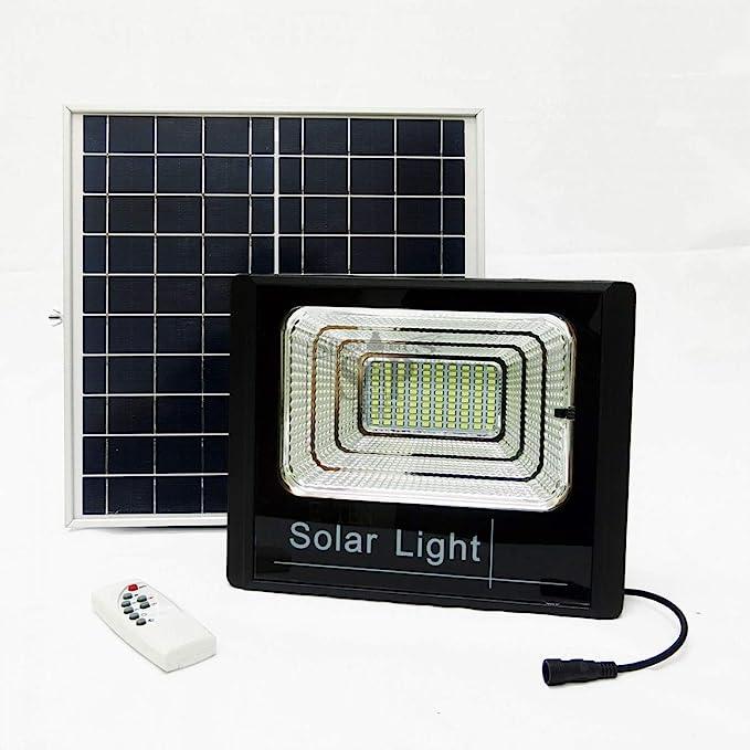 Faro LED SMD 40 W w panel solar Energía crepuscular mando FOYU: Amazon.es: Iluminación