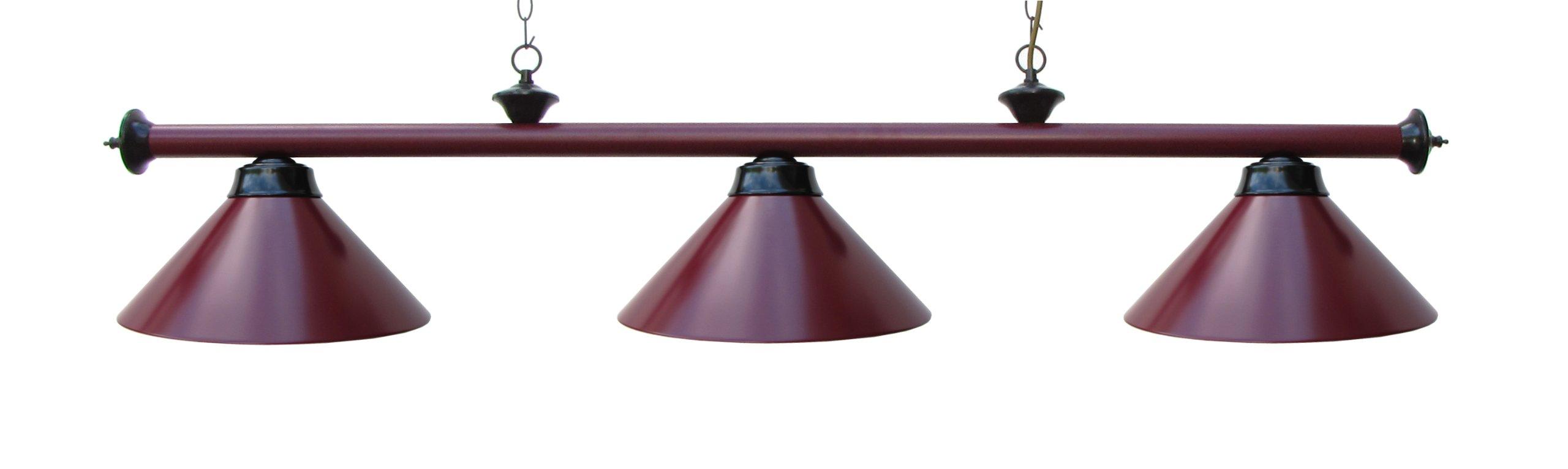 "59"" Metal Pool Table Light Billiard Lamp Green"