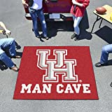 "NCAA University of Houston Man Cave Tailgater Rug, 60"" x 72""/Small, Black"