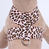 Ultrasuede Tinkie Small Dog Harness by Susan Lanci Designs - Pink Cheetah Couture (SM (12'' to 14'' girth))