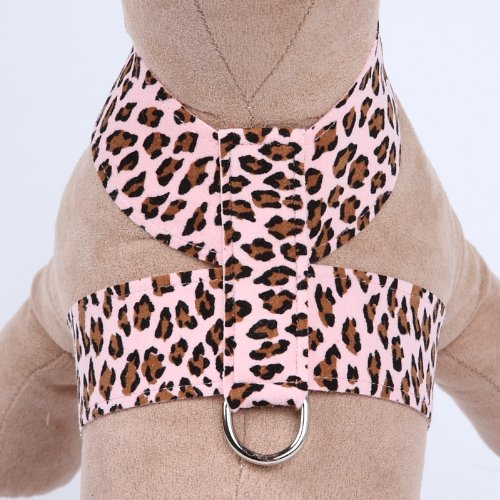 Ultrasuede Tinkie Small Dog Harness by Susan Lanci Designs - Pink Cheetah Couture (SM (12'' to 14'' girth)) by Susan Lanci Designs