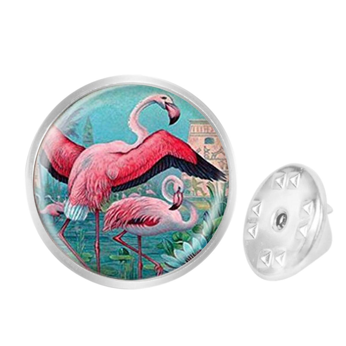 Custom Lapel Pin Brooches Flamingo Pendant Picture Art Banquet Badge Pins Trendy Accessory Jacket T-Shirt Bag Hat Shoe