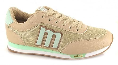 es Zapatos Mujer MTNG Blucher y Amazon Beige complementos C39233 Talla 56406 Deportivo de Mustang 41 7xqrU7wP