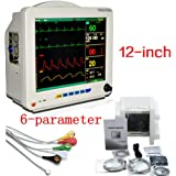 funwill 12 Inch 6-Parameter Patient Monitor,White (Shipping from USA)