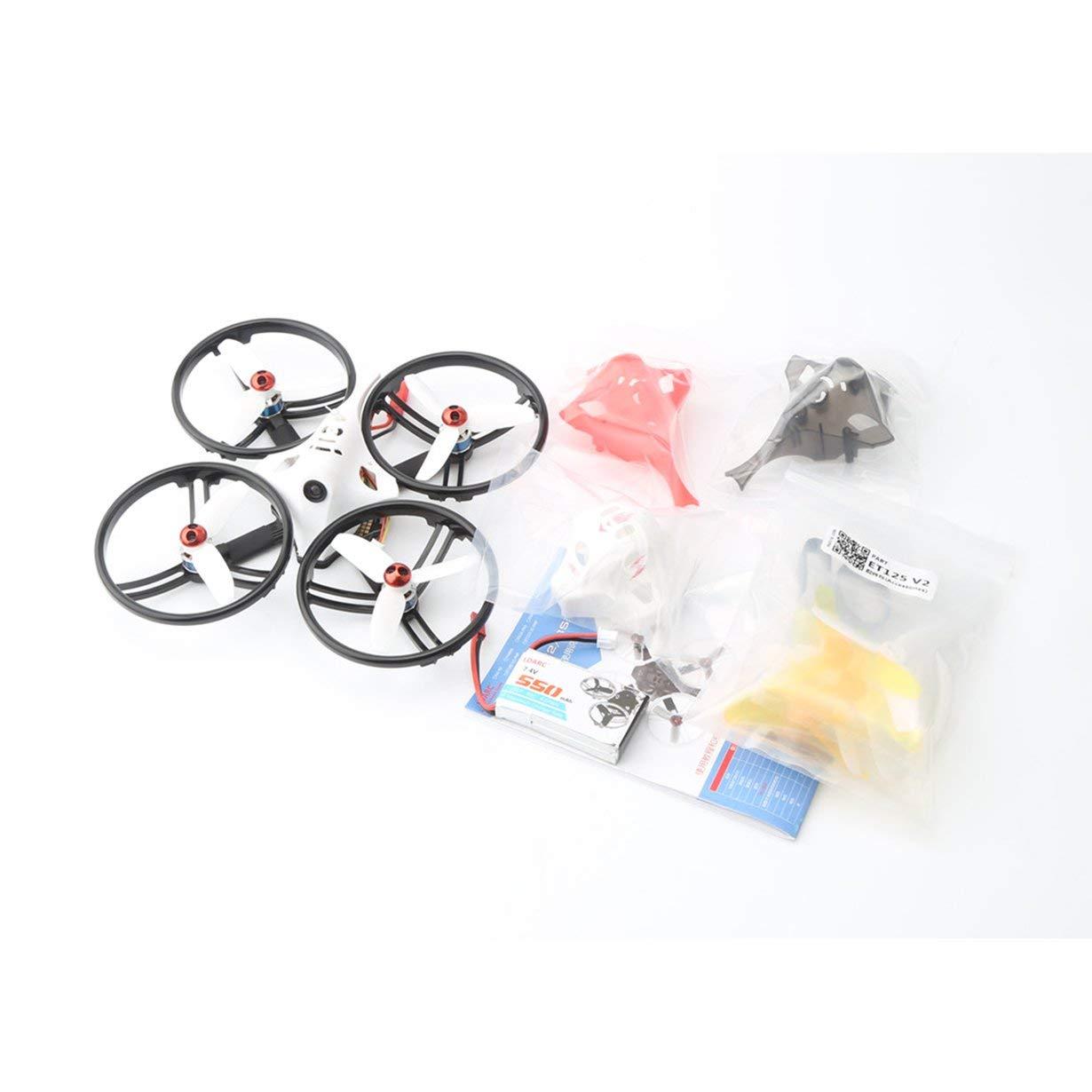 40% de descuento LDARC ET125 V2 5.8G OSD OSD OSD sin escobillas RX2A Pro RX CAM Mini FPV RC Racing Drone PNP (Anillo Negro)  están haciendo actividades de descuento