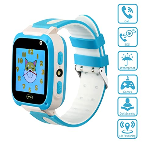 Kids Smartwatch with Games LBS Waterproof SOS Call Camera Sound Guardian