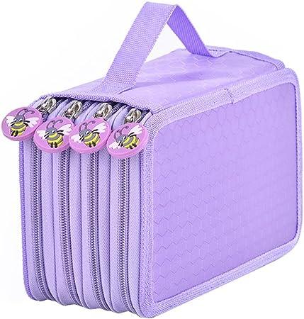 nuolux 72 Slots estuche escolar – Estuche escolar, estuche para lápices de colores Lápices 4 compartimento (Lila): Amazon.es: Hogar