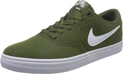 extraño Marina Inducir  Amazon.com: Nike SB Check Solarsoft - Lienzo, color verde: Shoes