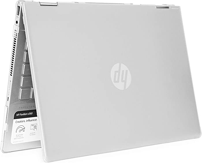 """mCover Hard Shell Case for 14"""" HP Pavilion X360 14-CDxxxx / 14-DDxxxx Series Convertible 2-in-1 laptops – HP-PX360-14CD Clear"""