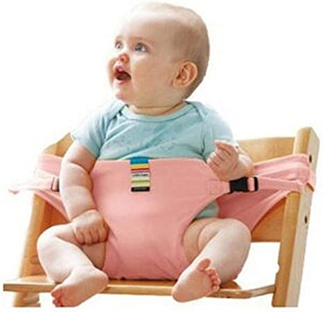 Cinturón de seguridad portátil para silla de comer de bebé con ...