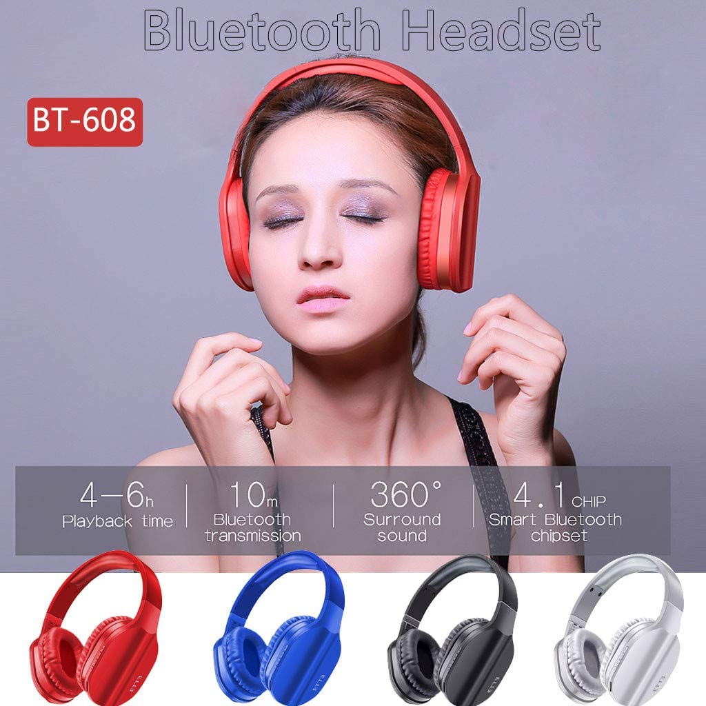 Winner666 Fashion BT-608 Stereo Earphone Headband Gaming Headset with Built-in Mic