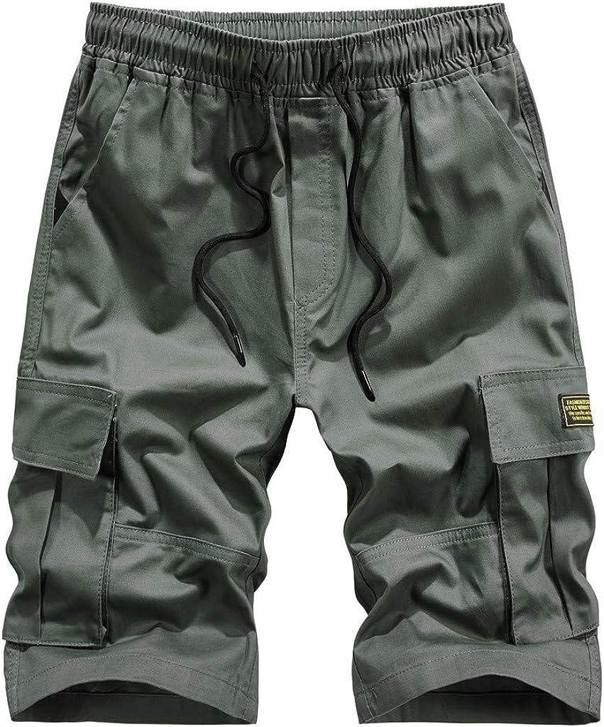 LANSKIRT/_Pantalones Corto Hombre Deporte Bolsillos Pantalones Hombre Baratos Verano Al Aire Libre Casual Overoles Sueltos Pantalones Cortos de Playa Deporte Shorts/De Color S/ólido