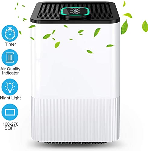 Nobebird A8 hepa-Filter-air-purifiers, White