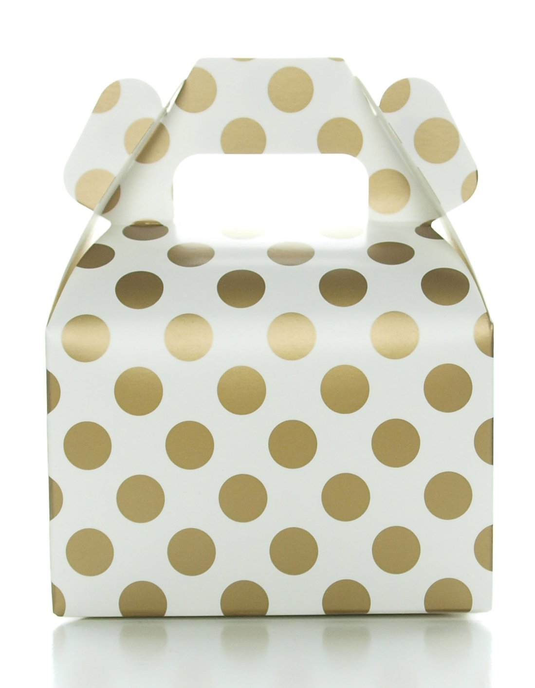 Amazon.com: Party Favor Candy Boxes, Gold Polka Dot (12 Pack ...