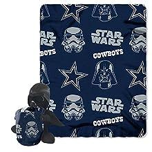 "NFL Dallas Cowboys Star Wars Darth Vader Hugger Blanket & Fleece Throw Set, 40 x 50"", Black"