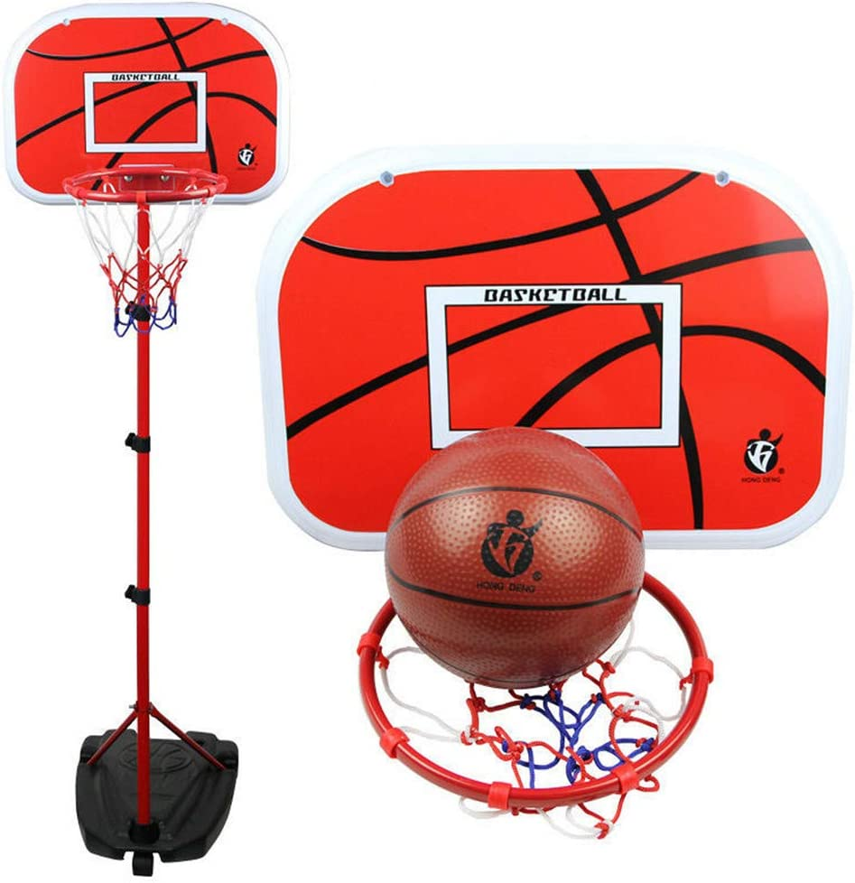 Lvbeis Basketball Hoop System Height Adjustable Portable 46.5 32.5cm Backboard for Kids Adults Junior