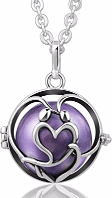 EUDORA Harmony Ball Necklace Tree of Love Locket with 20mm Chime Ball for Mother /& 30 Chain
