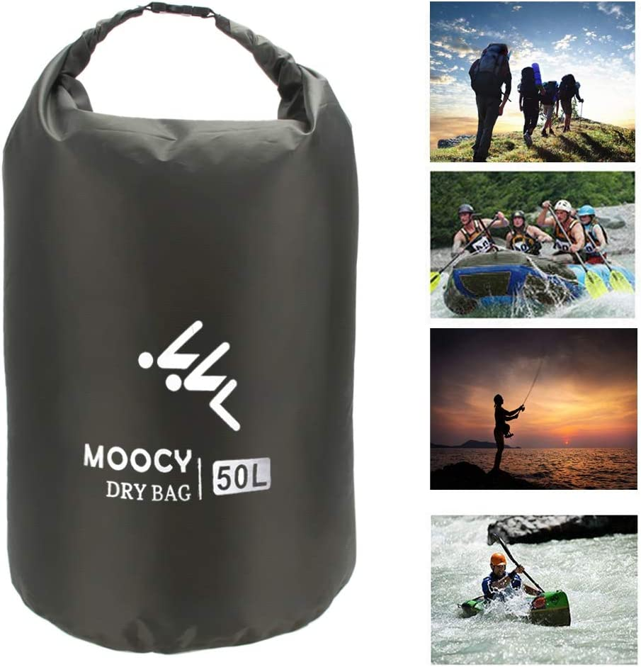 Coherny 5L//20L//50L Waterproof Dry Bag Roll Top Sack Kayaking Rafting Boating Swimming Dry Organizer Beach Fishing Storage Bag Outdoor Canoe Kayak Rafting Drifting Bag