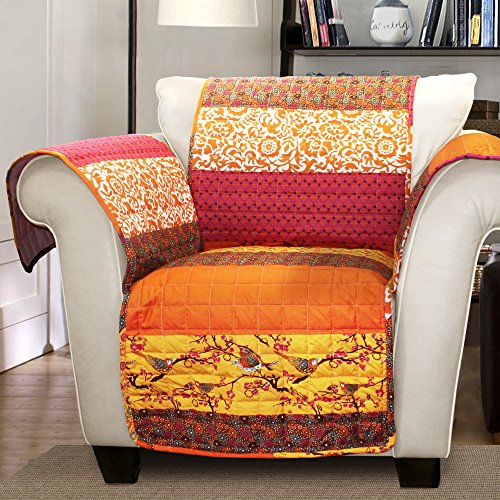 Lush Decor Royal Empire SlipcoverFurniture Protector for Armchair Tangerine